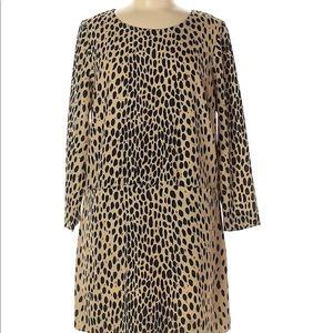 J Crew Leopard Print Dress 6 NWT